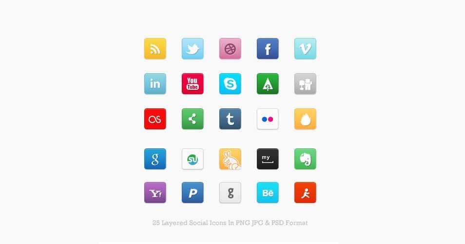 Mini Social Icon Set