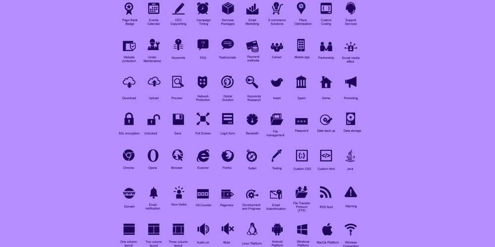 Modern SEO Icon PackModern SEO Icon Pack