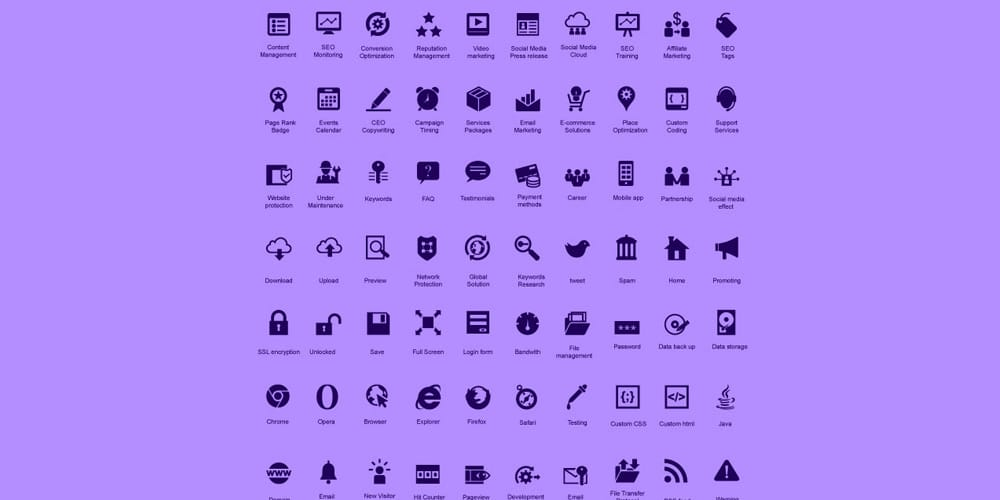 Modern SEO Icon Pack