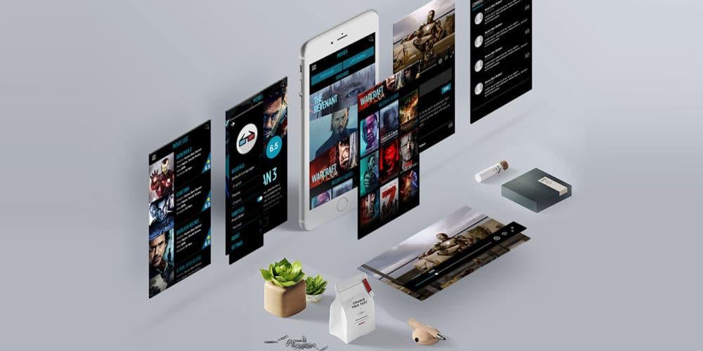 MovieRama Free UI Kit PSD