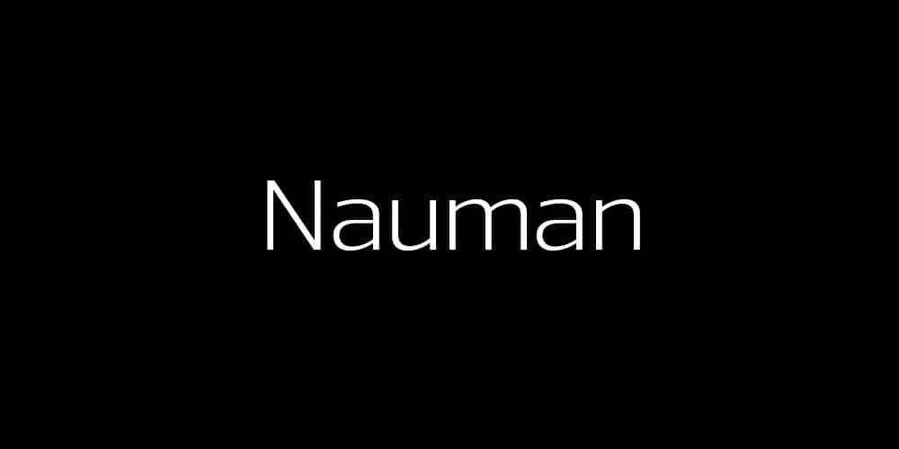Nauman Regular Free Font
