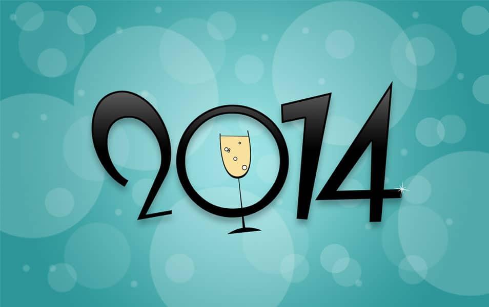 New Year 2014 HD Wallpaper
