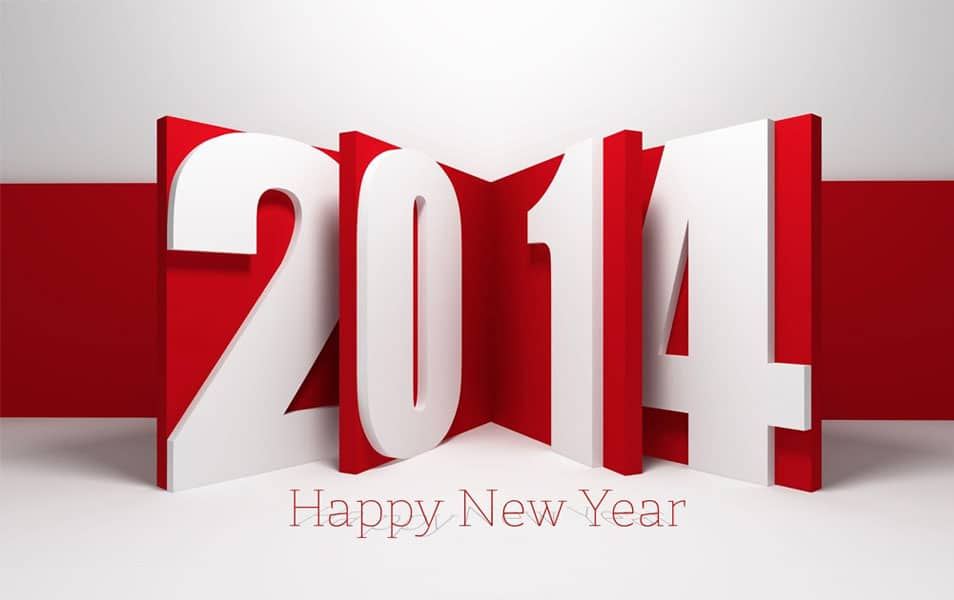 Happy new year in 3d happy new year 3d text by gokcengulenc happy new year wallpaper 2014 hd voltagebd Choice Image