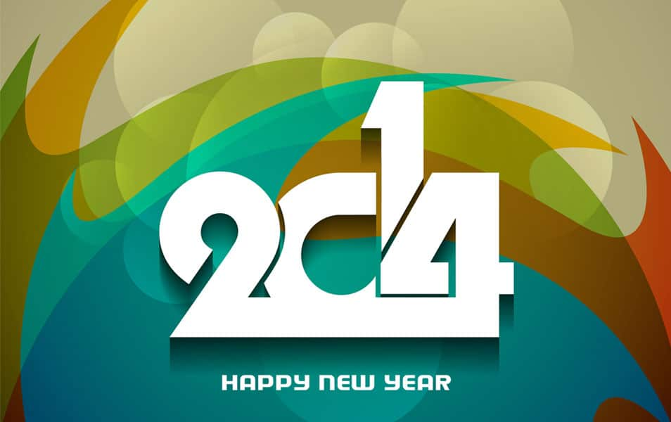 New Year 2014 Wallpaper 3D