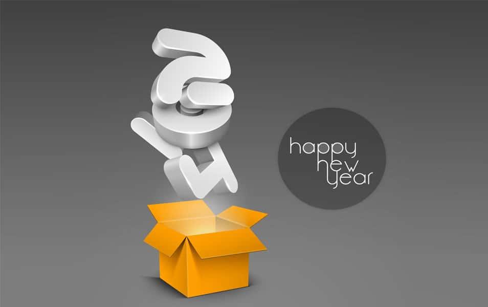 Happy new year wallpaper 2014 hd new year gift box voltagebd Choice Image