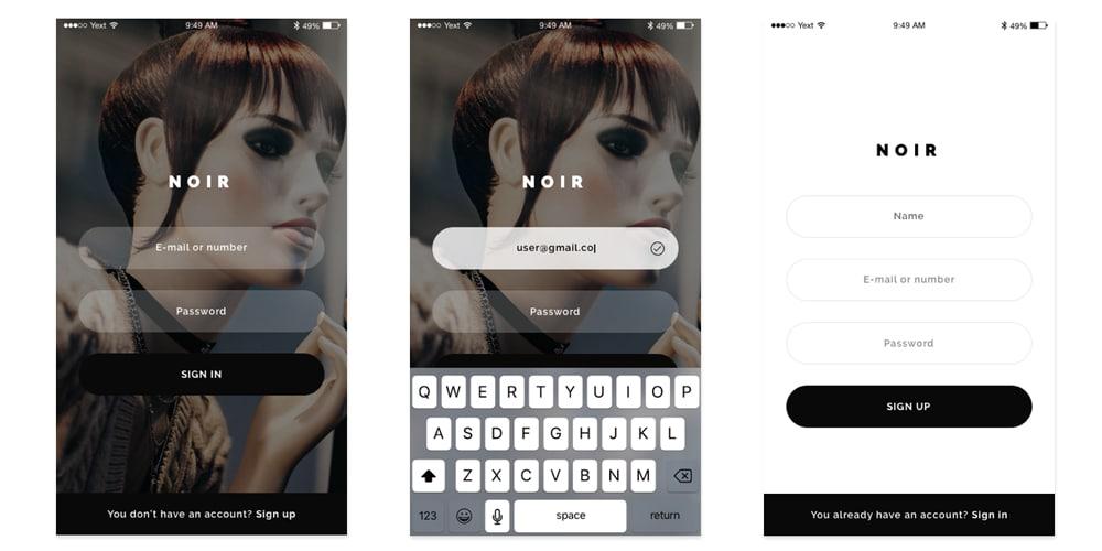 Noir E-commerce App UI Kit