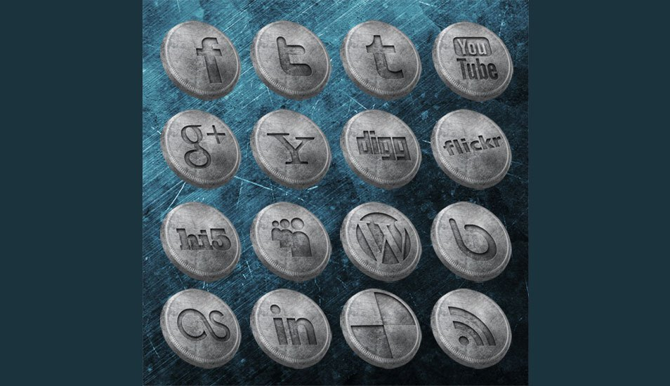 Old Coins Social Media Icons