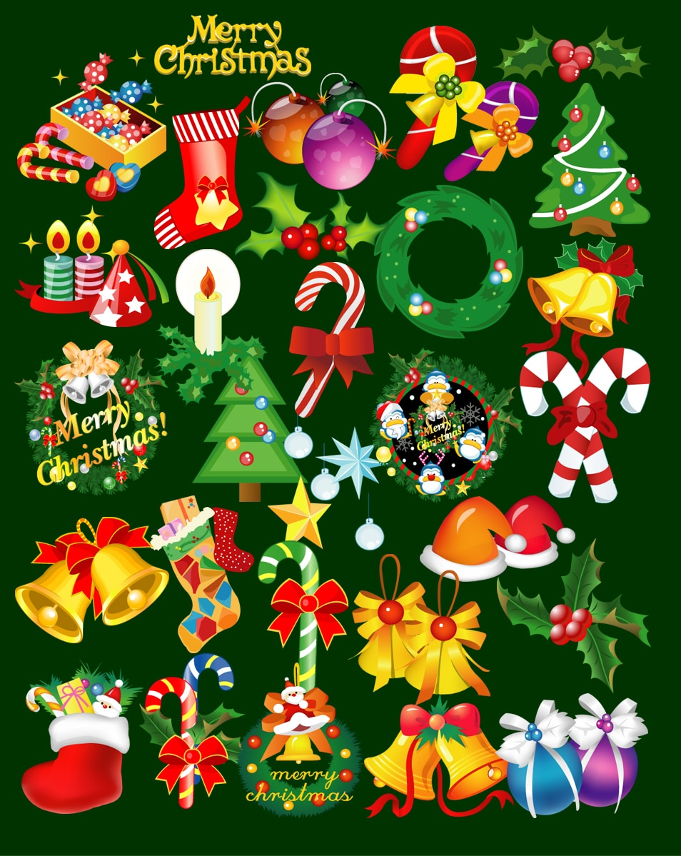 PSD Christmas Elements