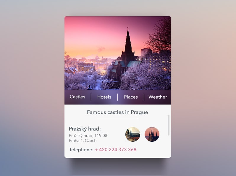 Prague Widget free psd