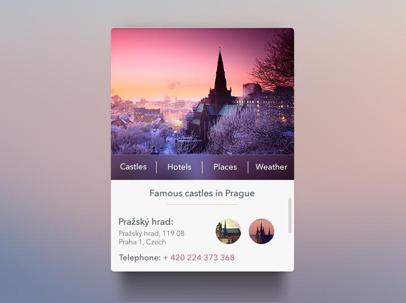Prague Widget free psd