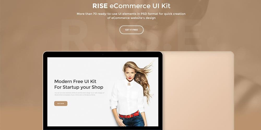 Rise Free eCommerce UI Kit PSD