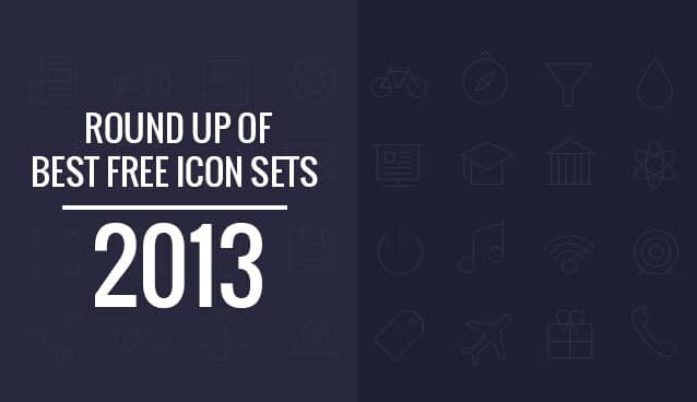 Round Up of Best Free Icon Sets 2013
