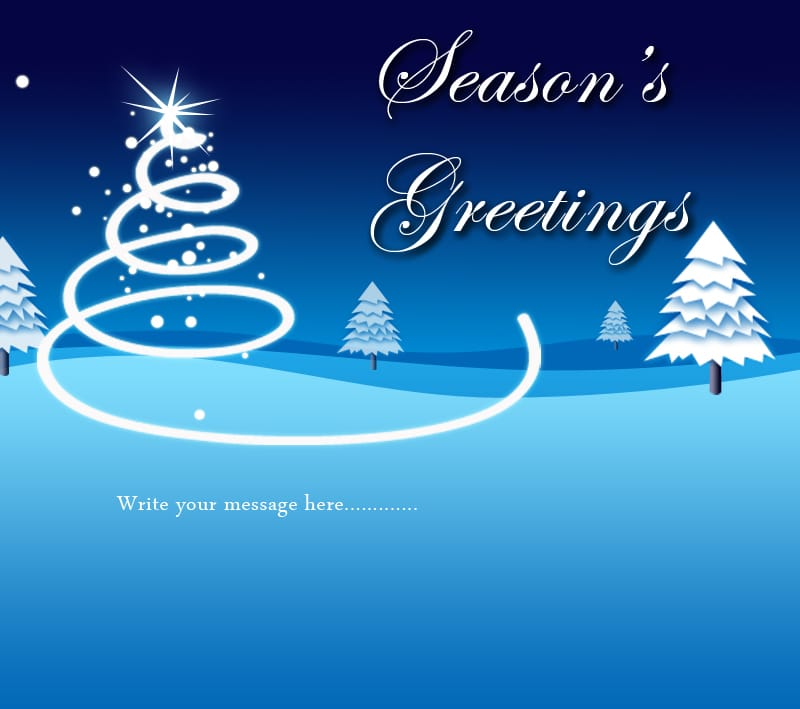 Seasons Greetings Digital Card