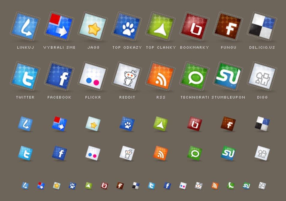 Set of social icons no.3