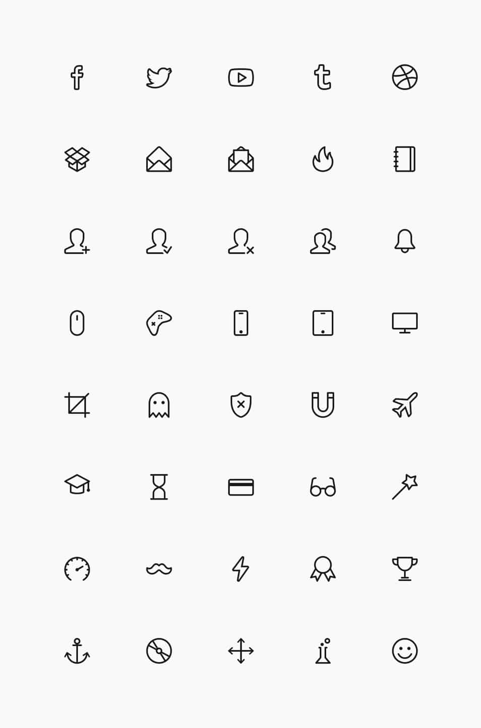Simple Line Icons Set Vol.4