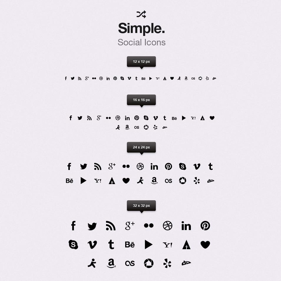 Simple Social Icons vol1