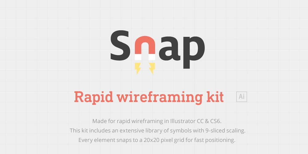 Snap - Rapid Wireframing Kit