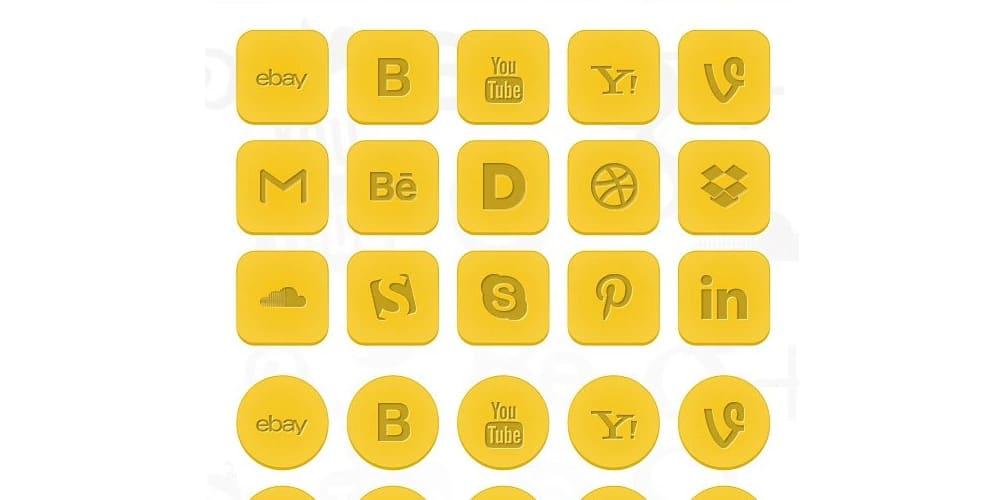 Social Icons PSD Set
