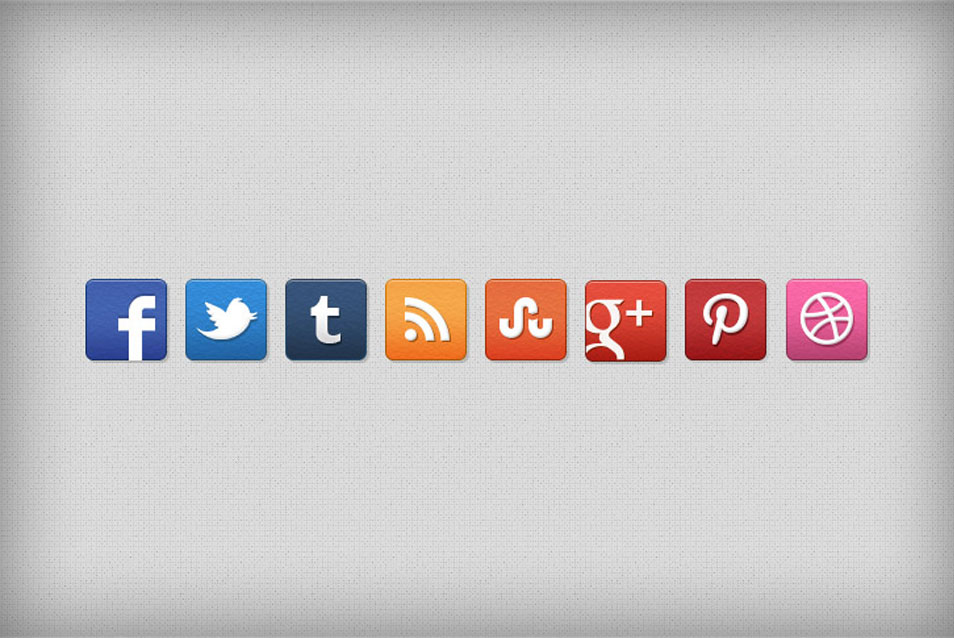 Stucco Social Media Icon Set