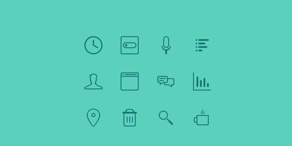 Teal Icons