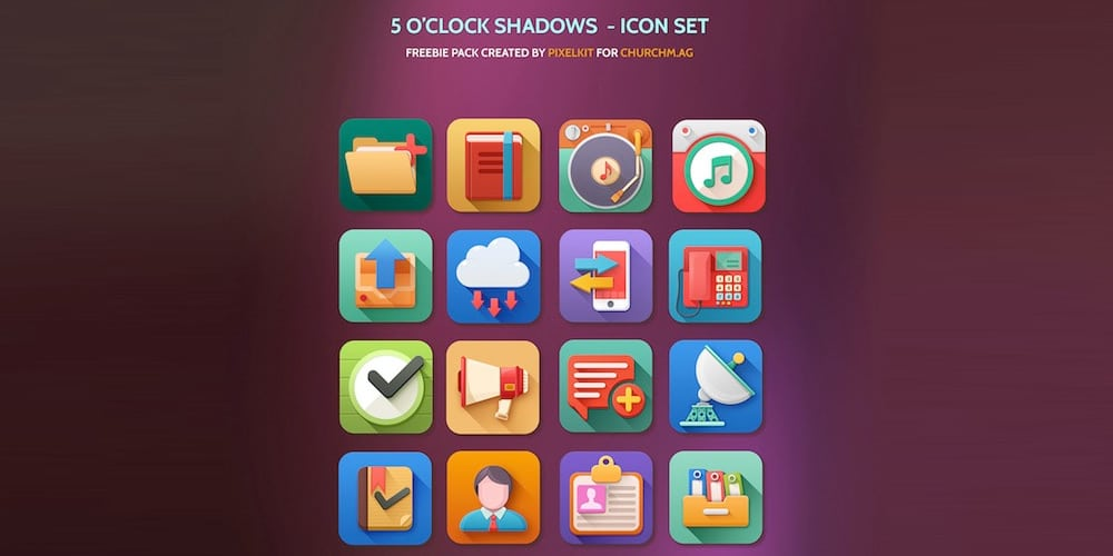The 5 O'clock Shadows Icon Set