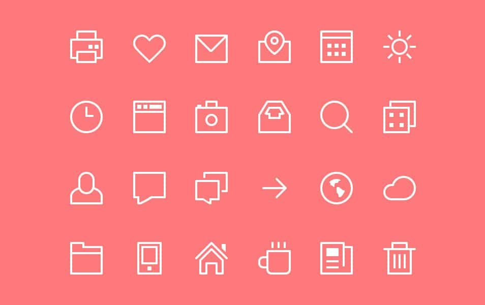 Thin Stroke Icons