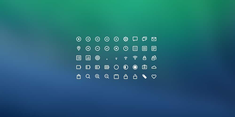UI Icons PSD
