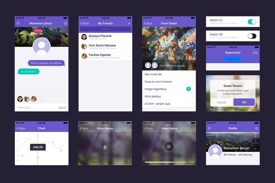 UI set for app design PSD