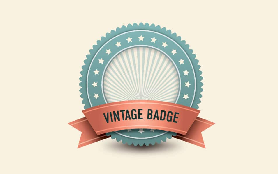 Vintage Badge Vector Graphic