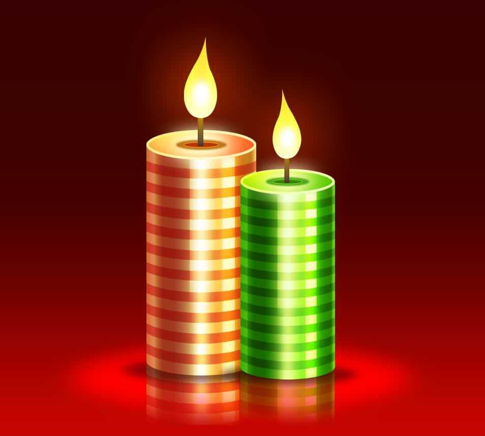 christmas candles psd