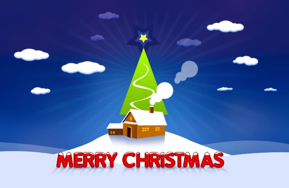 Backgrounds For Christmas Cards - Christmas Lights Card and Decore