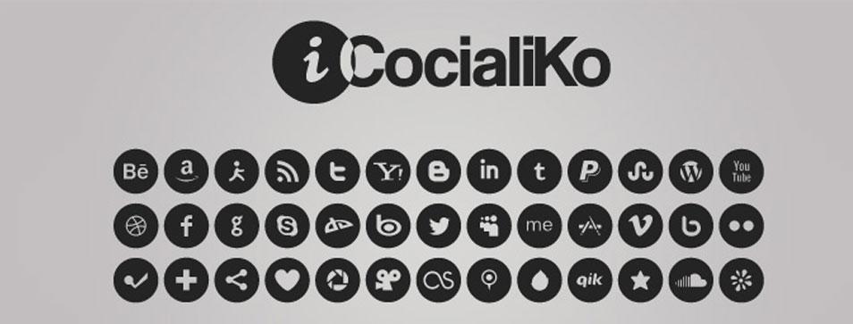 iCocialiKo FREE Rounded Social Media iCones