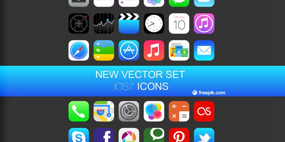 iOS 7 Vector Icons