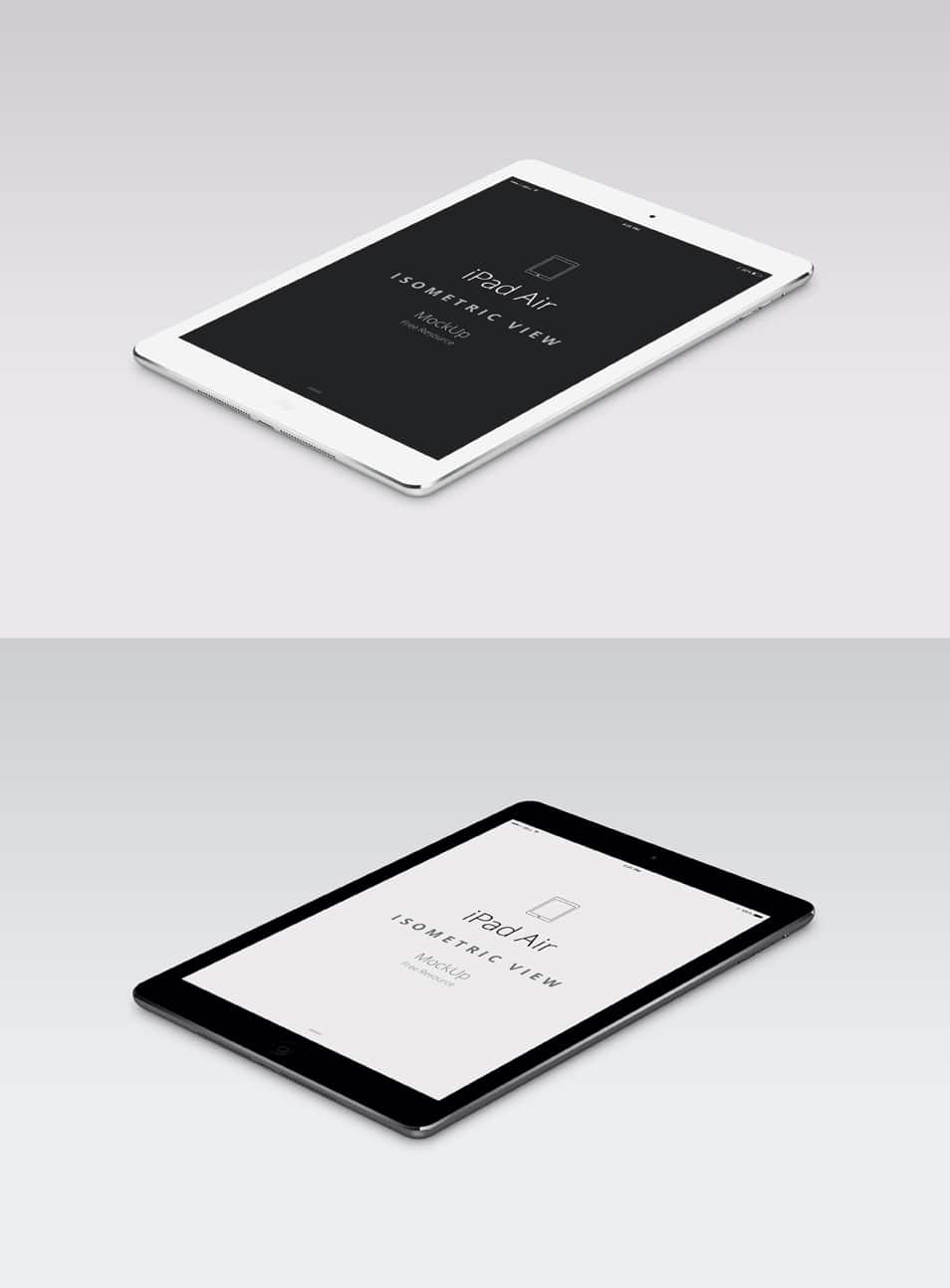 iPad Air Perspective Mockup PSD