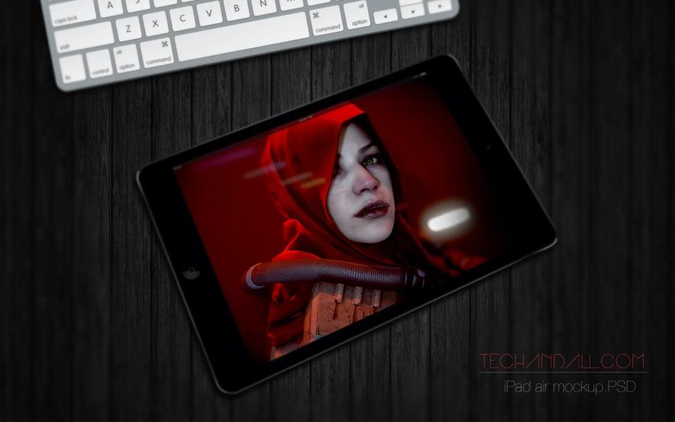 iPad Mini Perspective Mockup