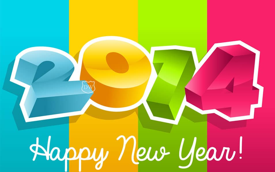 New Year 2014 3D wallpaper