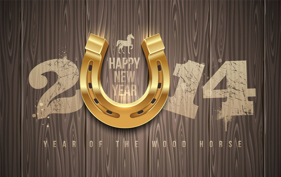Happy new year wallpaper 2014 hd wood horse new year wallpapers voltagebd