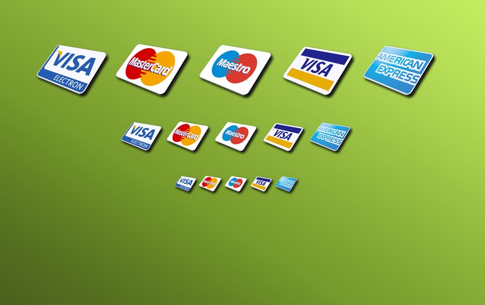 5 credit card icons psd