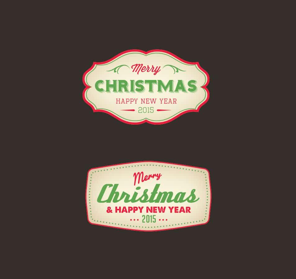 Christmas Badge PSD