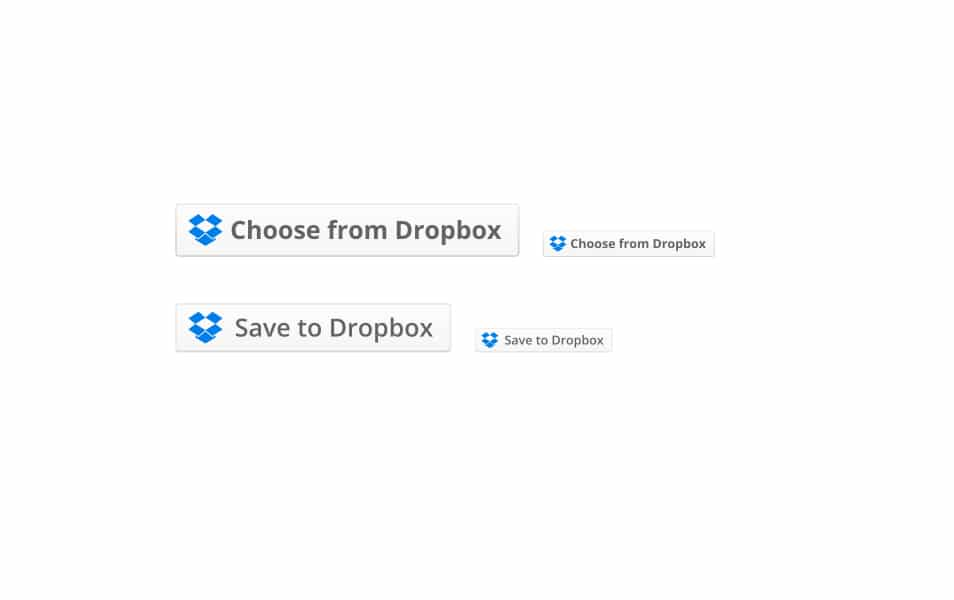 Dropbox Drop-ins Buttons