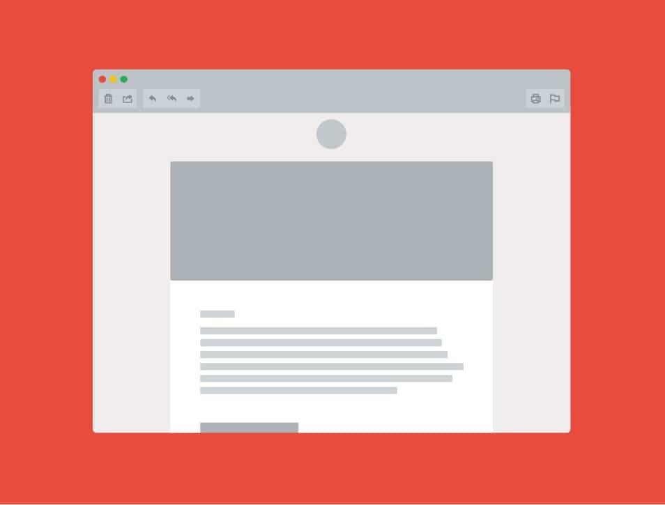 Email Window Mockup PSD