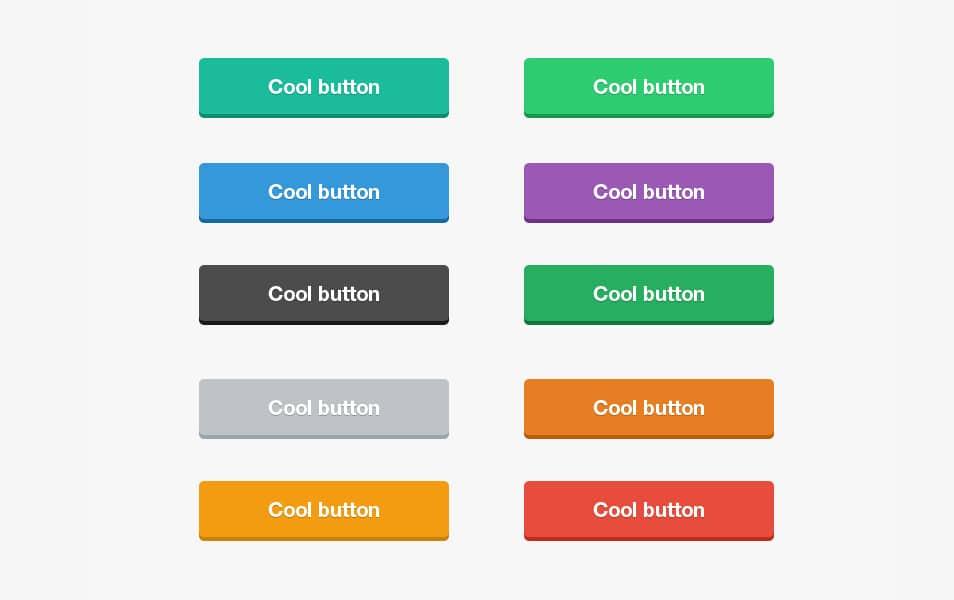 Flat Buttons PSD