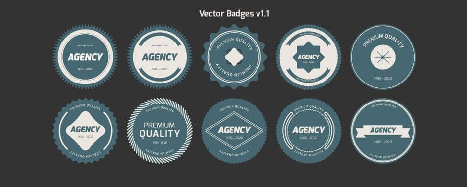Flat Vector Badges — V1.1