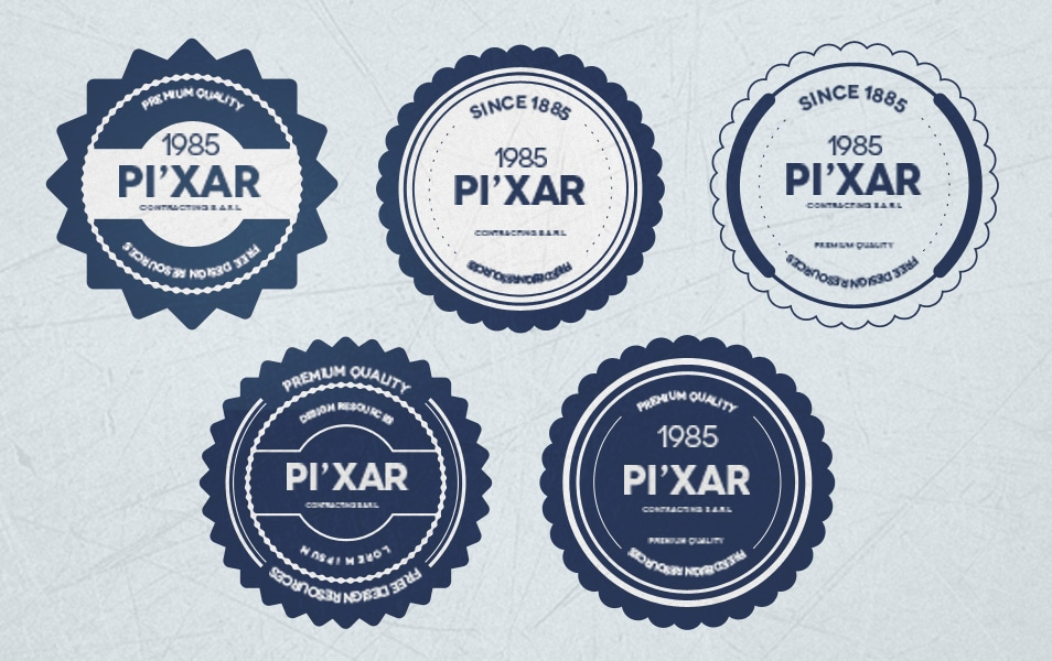 Free Badges PSD