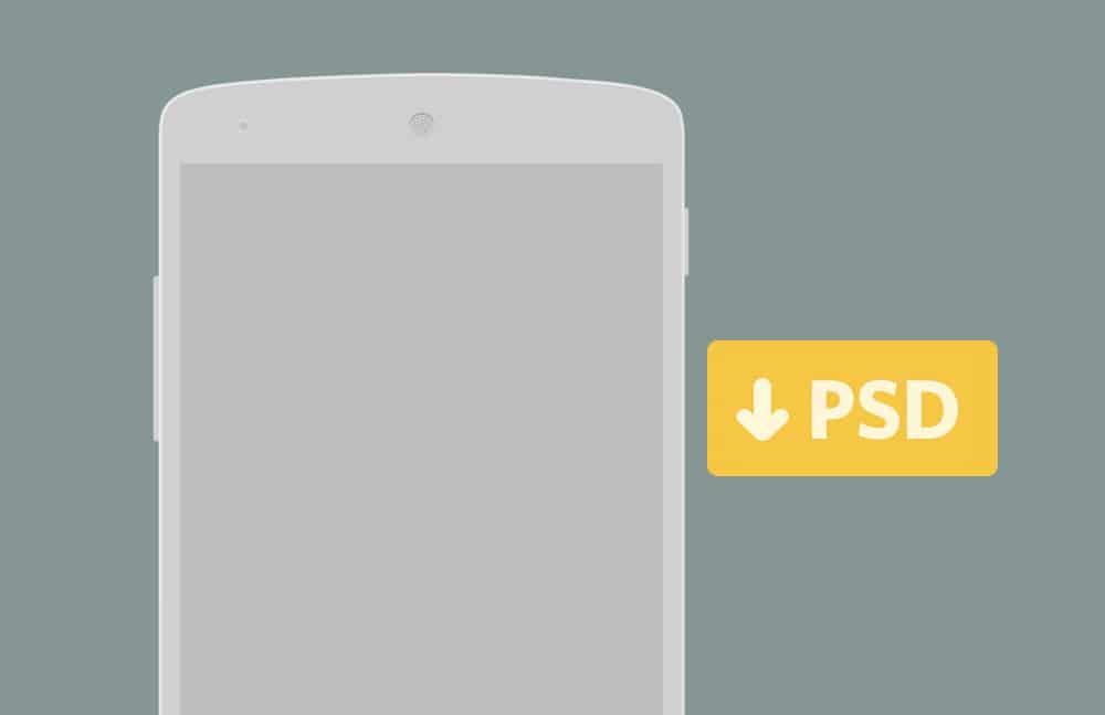 Free Nexus 5 Wireframe PSD