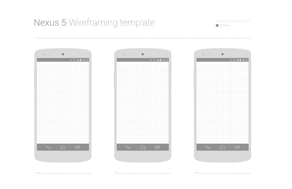 Free Nexus 5 Wireframing Template PSD