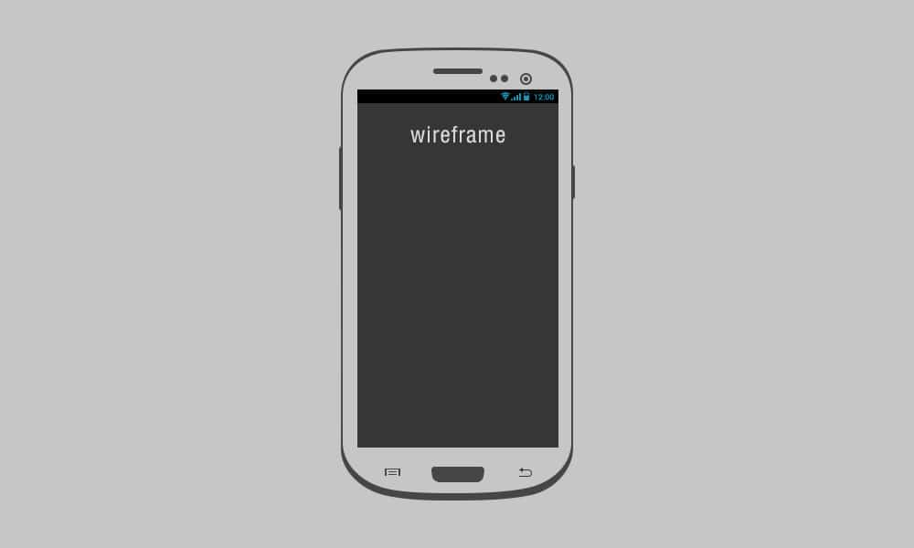 Galaxy S3 Wireframe PSD