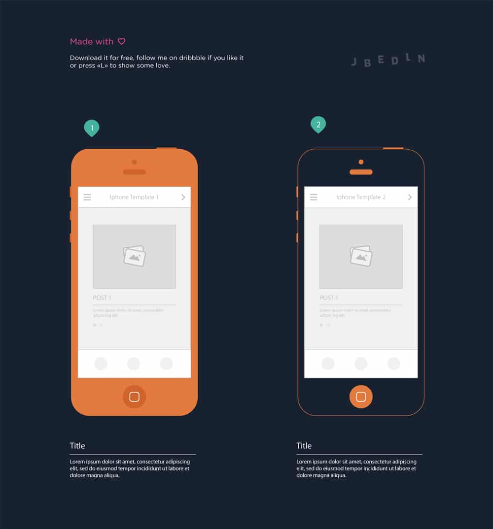 Iphone Wireframe Templates for Mobile Storyboard