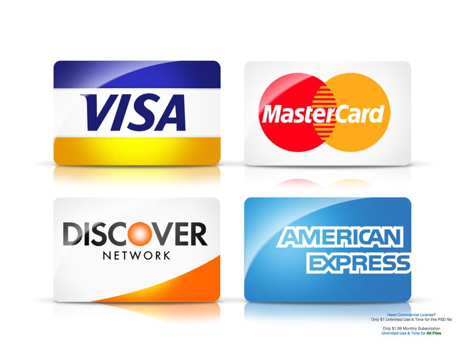 Major Credit Card Icons