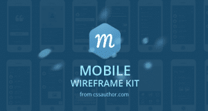 Mobile Wireframe Kit PSD – Freebie No:137